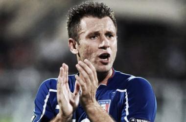 Cassano re-joins Sampdoria