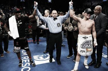 A pesar del fallo controvertido, el Boxi conservó su cinturón (Foto: AFP)