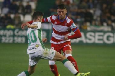 Adri Castellano en un lance del partido. Foto: LaLiga.