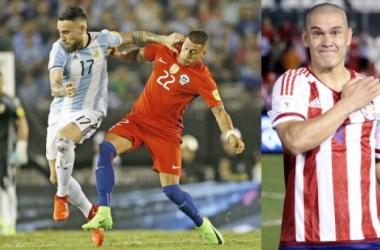 Nicolás Castillo con Chile y Darío Verón con Paraguay vieron minutos en esta Fecha FIFA (Foto: Andrés Ocampo)