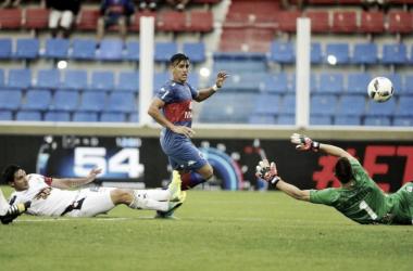 El gol de Pucho (Foto: Olé).