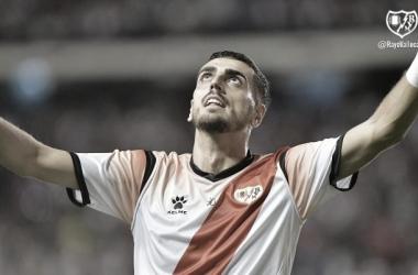 Catena celebrando su gol. Fotografía: Rayo Vallecano S.A.D
