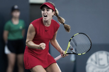 Catherine Bellis continues to rise in the rankings as she celebrates a win over Kvitova | Photo: Jimmie48 Tennis Photography