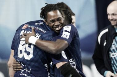 Causse festeja un triunfo importante para las esperanzas francesas de estar en octavos de final | Foto:montpellierhandball.com
