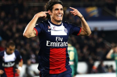 All smiles? Cavani looks set to snub interest from clubs such as Manchester United for his signature.