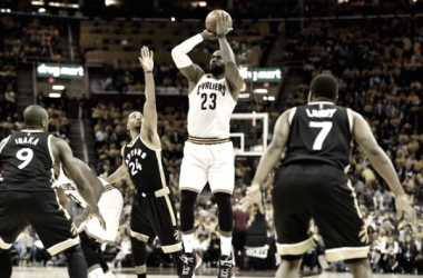 Cleveland Cavaliers forward LeBron James (23) shoots the ball. Photo: David Richard-USA TODAY Sports