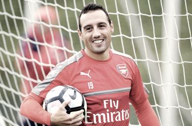 Cazorla en un entrenamiento con el Arsenal | Fotografía: Arsenal