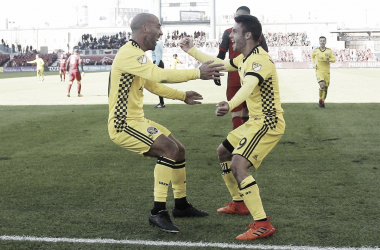 Higuain and Valenzuela celebrate their goal | Source: columbusscrewsc.com