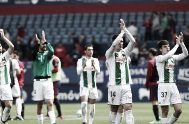 Los jugadores del Córdoba celebrando una victoria (FOTO: LaLiga)