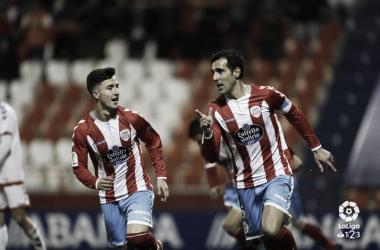 Celebración de los jugadores del CD Lugo | Foto: LaLiga