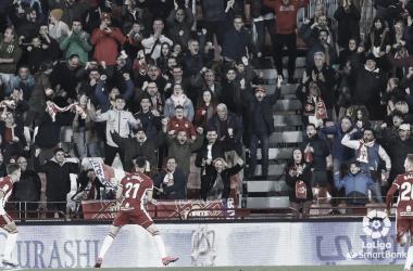 Darwin Núñez(20) celebra con rabia el 1-0./ Fuente:LaLiga