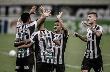 """Após goleada, Bergson festeja gol e boa fase do Ceará: """"É ótimo estar marcando"""""""