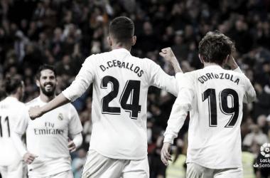 Dani Ceballos fue titular y autor de un gol en el partido contra el Huesca en el Santiago Bernabéu | Foto: LaLiga.es