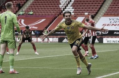 Sheffield United tem dois gols anulados, Arsenal marca no fim e está nas semifinais da FA Cup