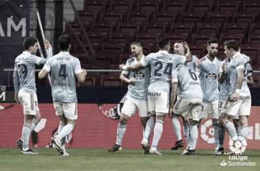 Celebración de gol ante el Atlético | Fuente: LaLiga
