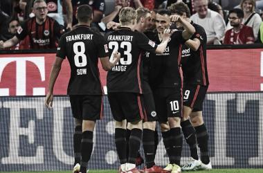 Celebración de un gol del Eintracht de Frankfurt // Fuente: Eintracht Frankfurt