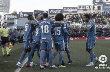 Celebración de un gol del Getafe ante el Betis // Fuente: LaLiga