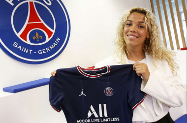 Celin Bizet signs for PSG (Picture credit PSG.FR)