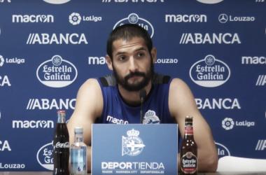 Celso Borges durante la rueda de prensa. / Imagen: RCDeportivo
