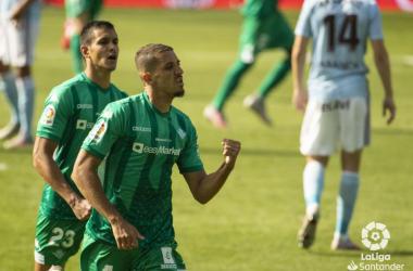 Feddal celebra un gol en el último Celta- Betis. Foto: LaLiga Santander