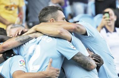 RC Celta celebrando un gol. Fuente: Celta.