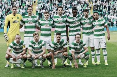 Celtic line up against Stjarnan in the qualifiers