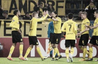 Reus celebrando su gol (Foto: @BVB).