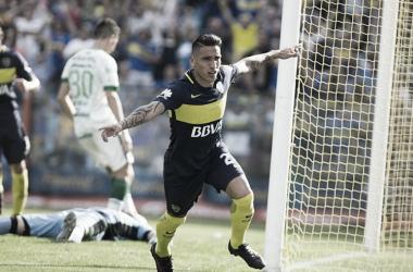 Centurión al grito de gol en la Bombonera | Foto: La Nación