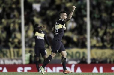 Centu tuvo un partido espléndido ayer en su vuelta a las canchas luego de la lesión. Foto: Prensa Boca Juniors