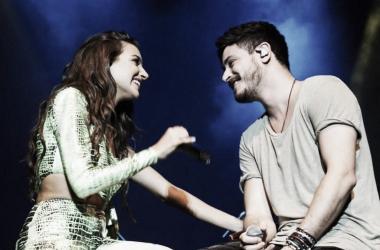 Ana Guerra y Cepeda durante el concierto en Valencia / Foto: Twitter