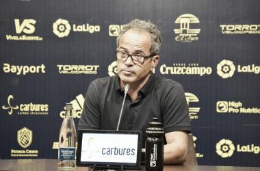 Álvaro Cervera en la sala de prensa | Foto: Cádiz CF