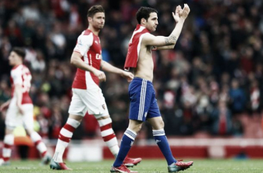 Fabregas following Chelsea and Arsenal's encounter at the Emirates.