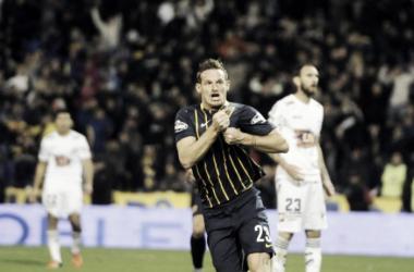 """El """"Colo"""" marcó su primer gol con la camiseta de sus amores (Foto: La Capital)."""