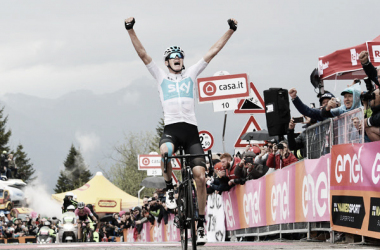 Chris Froome vince sullo Zoncolan.Foto Credit: LaPresse- D'Alberto / Ferrari / Paolone / Alpozzi