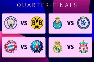 ¡Listos los Cuartos de Final de la Champions!