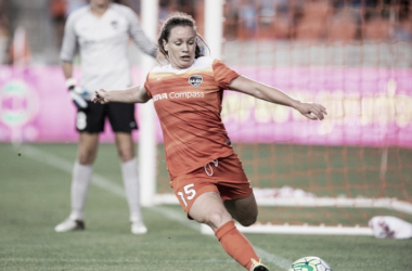 Allysha Chapman has been traded to the Boston Breakers after 14 appearances for Houston. (Source: Trask Smith)