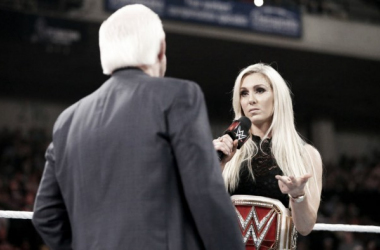 """The """"Texas Rattlesnake"""" did not find much good in the Charlotte/Ric Flair segment Photo: WWE.com"""