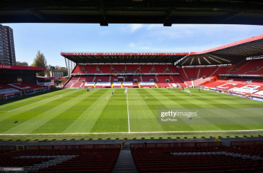 General view of the stadium before the Sky Bet League 1 match between Charlton Athletic and Peterborough at The Valley, London, England on 24th April 2021. (Photo by Ivan Yordanov/MI News/NurPhoto via Getty Images)