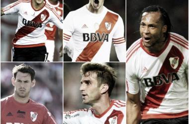 Driussi,Alario,Mina,Batalla y Alonso. Foto: Nicolás Castillo- Vavel Argentina