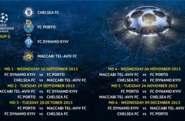 Grupo G da Uefa Champions League (Foto: Divulgação/Uefa)