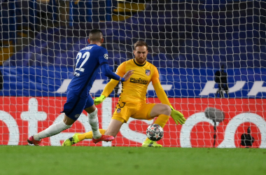 Il gol del momentaneo 1-0 firmato da Hakim Ziyech. | Foto: Twitter @ChelseaFC.