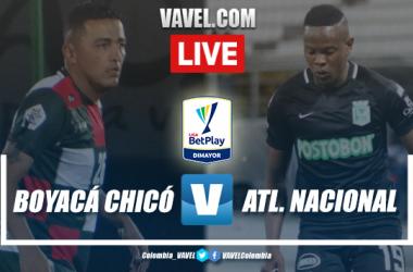 Resumen Boyacá Chicó vs Atlético Nacional por la jornada 4 de la Liga BetPlay (0-3)