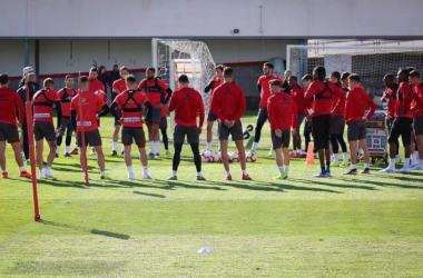 El equipo entrenando. Fotografía: Mario Paz Curiel (VAVEL)