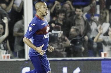 Festejó clásico del 7: en la Superliga marcó el empate agónico del Matador vs el Tatengue (Foto: Infobae).