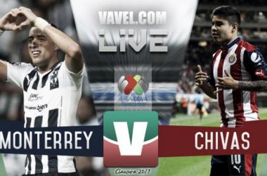 Monterrey no consigue darle la vuelta a Chivas con 9 jugadores