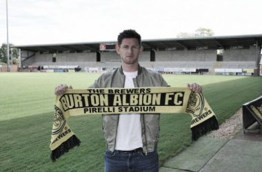 Calum Butcher pens a two-year deal with the Brewers. Photo source: Burton Albion