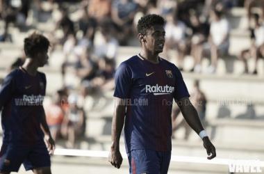 Choco Lozano fue el autor del único tanto del Barça B | Foto: Noelia Déniz - VAVEL