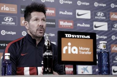 """Simeone: """"A partir de nuestro poderío defensivo aparece el talento que siempre hemos tenido en nuestros jugadores"""""""