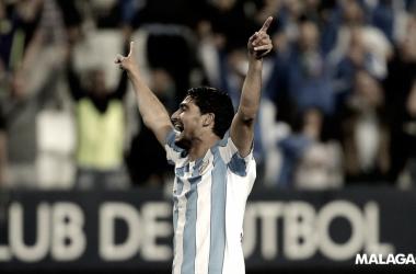 Un gol del Chory en La Rosaleda es sinónimo de victoria
