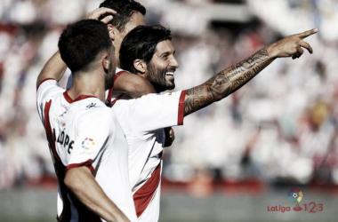 Chori celebrando un gol suyo. Fotografía: La Liga
